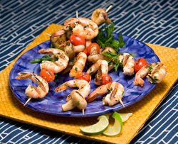 Lime shrimp kabobs