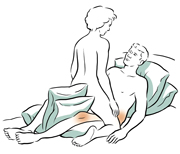 Face-to-face sex position.